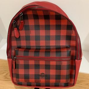 Coach red backpack